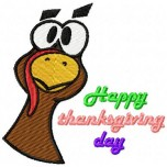 Happy thanksgiving day machine embroidery design for instant download